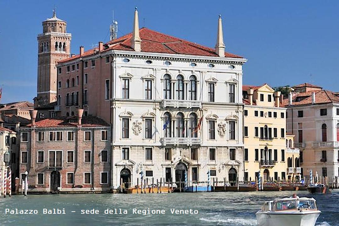 vista di palazzo Balbi, sede della Regione Veneto